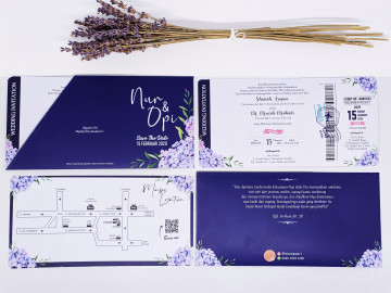 boarding pass wedding invitation