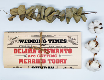 News paper wedding invitations