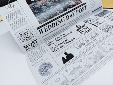 News letter wedding invitations