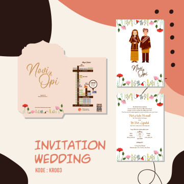Karakter Adat wedding invitation