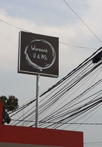 Sign Board waroeng U & MI