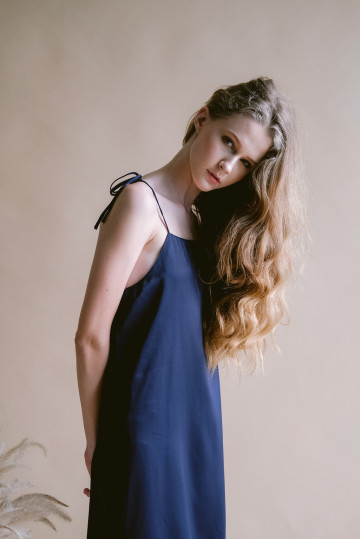 Navy Maple Dress