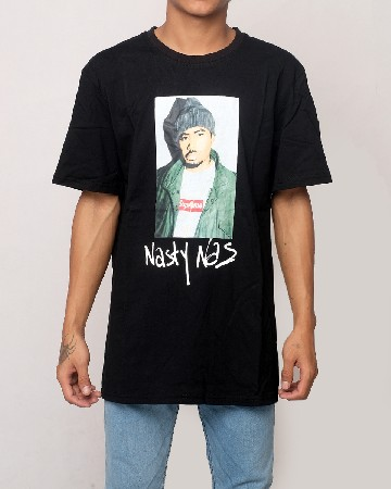 Supreme X Nasty Nas T-shirt - Black - 61596