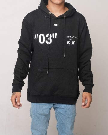 Off-White Caravaggio Virgil Abloh 03 Hoodie - Black White - 61601