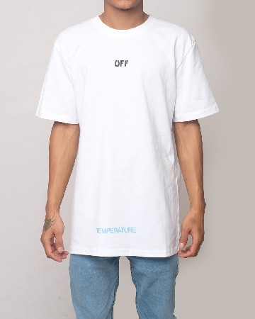 Off-White Temperature T-shirt - White Black - 61604