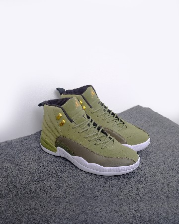 Nike Air Jordan 12 Graduation Pack - Hijau Putih - 13243