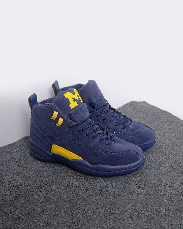 Nike Air Jordan 12 Michigan - Biru Kuning - 13244