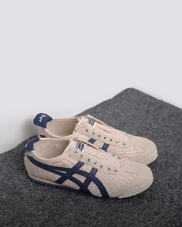 Onitsuka Tiger 66 Slip On - Krem Navy - 13366