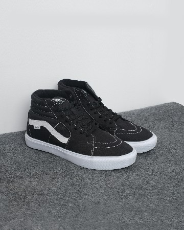 Vans Sk8 Hi Lite Canvass - Black White - 13158
