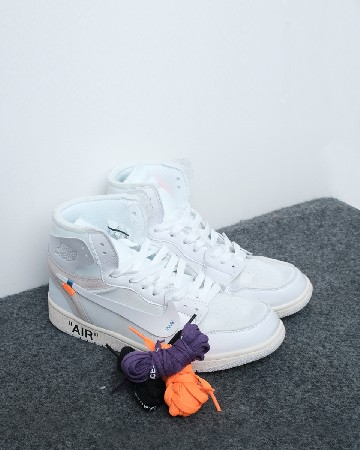 Nike Air Jordan 1  X Off-White - White - 13107