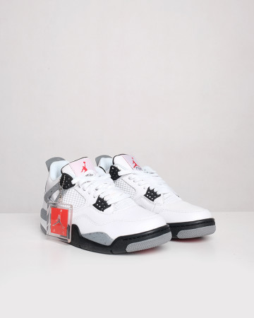 Nike Jordan 4 Retro White Cement (2012) - White Black Grey - 13417