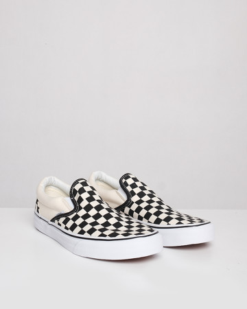 Vans Checkerboard Slip-On - White Black - 13418
