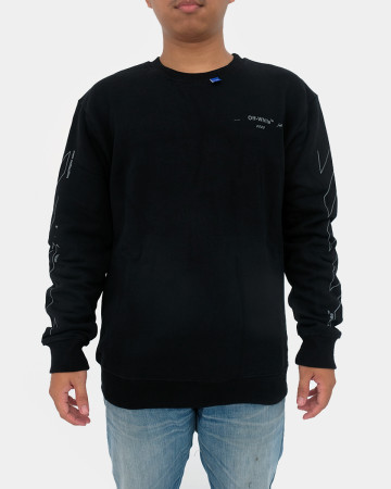 Off-white X line Longsleeve - Black - 62075
