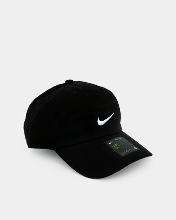 NIKE Authentic Dri-FIT Low Profile Swoosh Front Adjustable Cap - Black - 62086