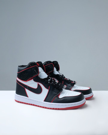 JORDAN 1 RETRO HIGH BLOODLINE - BLACK GYM RED WHITE 13614