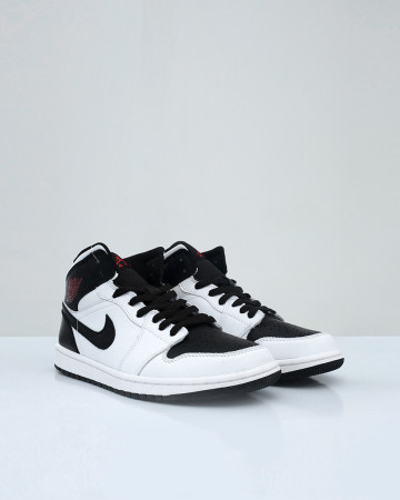 Jordan 1 Mid Reverse Black Toe - White Gym Red Black - 13644