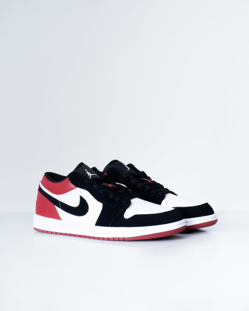 Jordan 1 Low Black Toe - White Black Gym Red - 13638