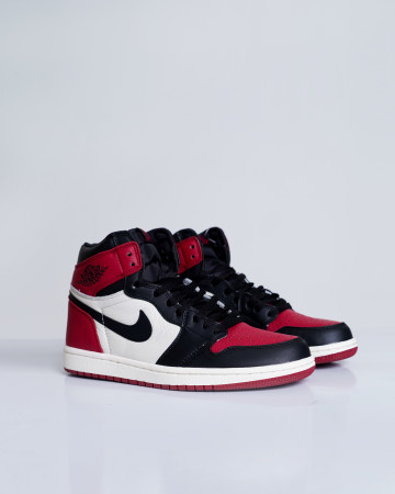 Jordan 1 Retro High Bred Toe - White Gym Red Black - 13675