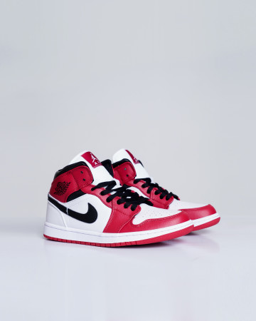 Jordan 1 Mid Chicago 2020 (GS) - White Gym Red Black - 13676