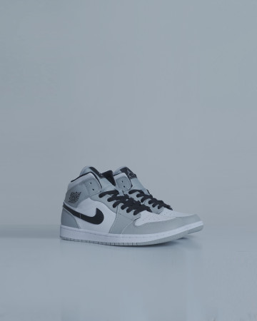 Jordan 1 Mid Light Smoke Grey - Light Smoke Grey Black White - 13685