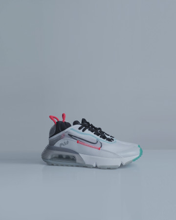 Nike Air Max 2090 Pure Platinum - White Black Bright Crimson - 13691