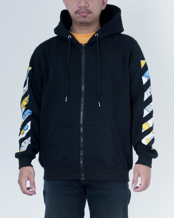 Off White X Kaws Uniqlo Cross Diagonal - Black - 62199