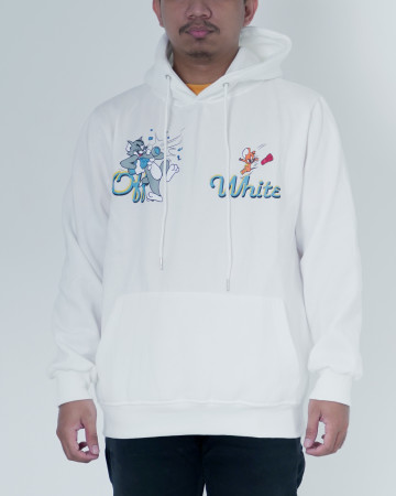 Off White Tom And Jerry Hoodie - White - 62188