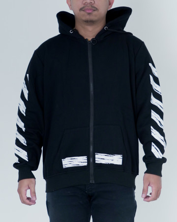 Off White Tape Arrows Hoodie - Black - 62203