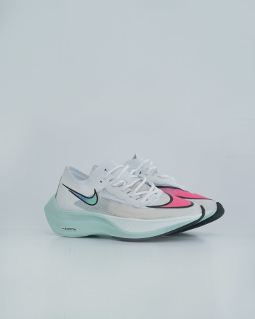Nike Zoomx Vaporfly Next - White Hyper Jade Flash Crimson - 13704