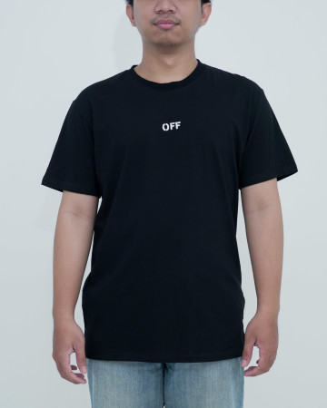 Off White Stencil S/S Slim Tee -Black White 62212