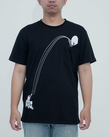 Rnd Hoops Pocket Tee -Black 62219