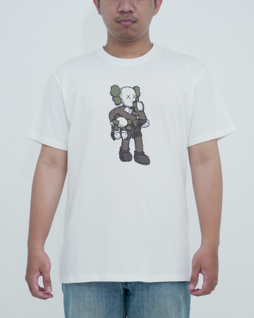 Kaws X Uniqlo Clean Slate Tee-White 62228