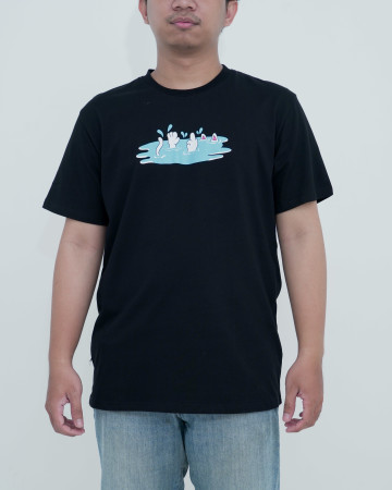 Rnd Splash Tee-Black 62218