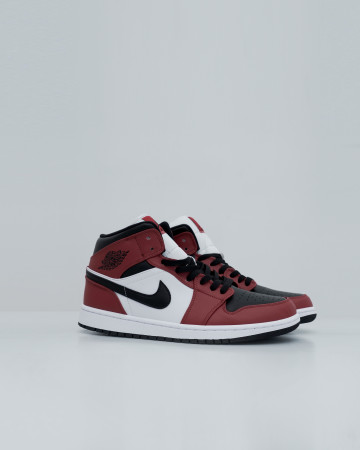 Air Jordan Mid Chicago Toe - Red Black White - 13710