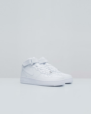 Nike Air Force One Mid - All White - 13722