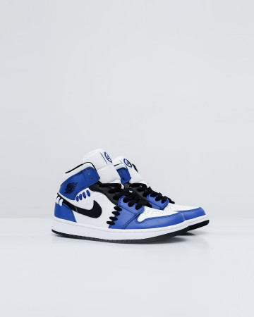 Nike Air Jordan 1 Mid Se Sisterhood - Game Royal/Black-White - 761007