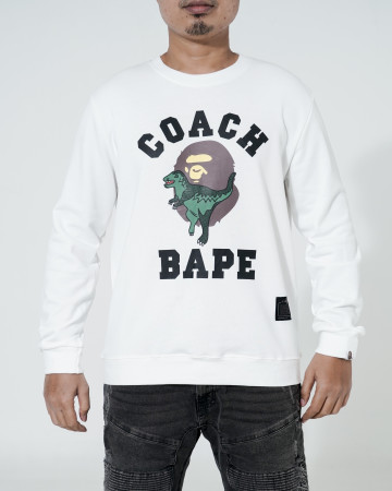 Sweater Bape X Coach Rexy Crewneck - White - 766020