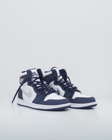 Jordan 1 Retro High COJP Midnight Navy - White/Metallic Silver - 13742