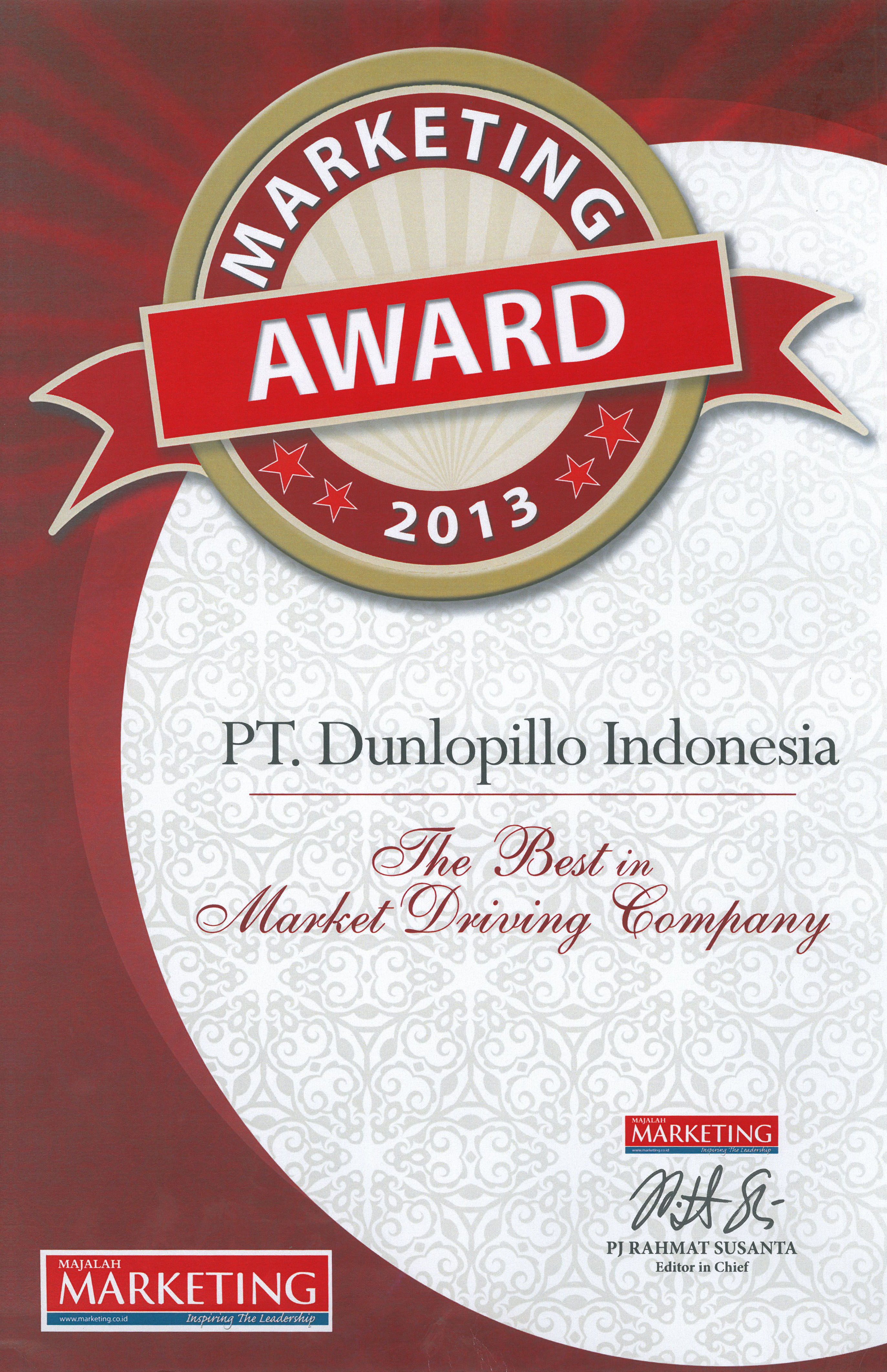 Marketing Award (Best in Market Driving Company)