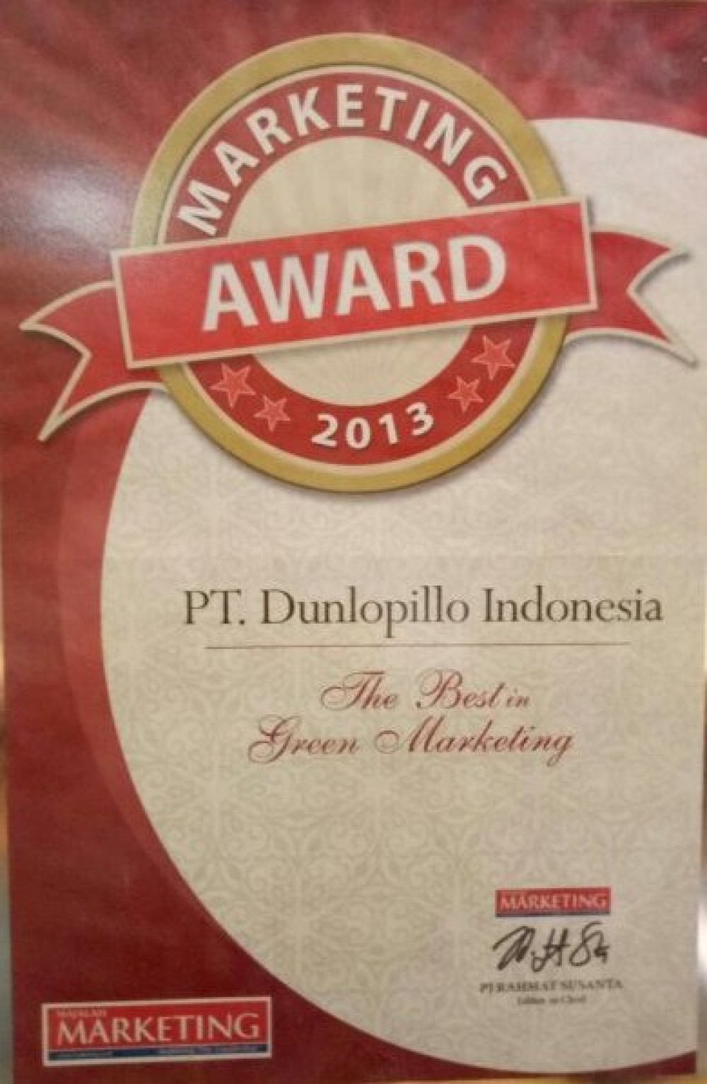 Marketing Award (The best in Green Marketing)
