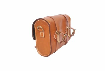 Spin Leather Saddle Bag