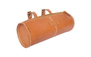 Spin Leather Tube Bag