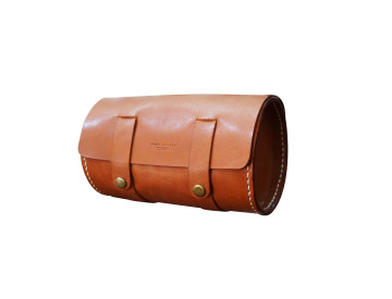 Spin Leather Flap Tube Bag