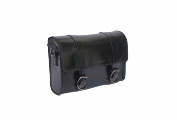 Spin Leather Saddle Bag Black
