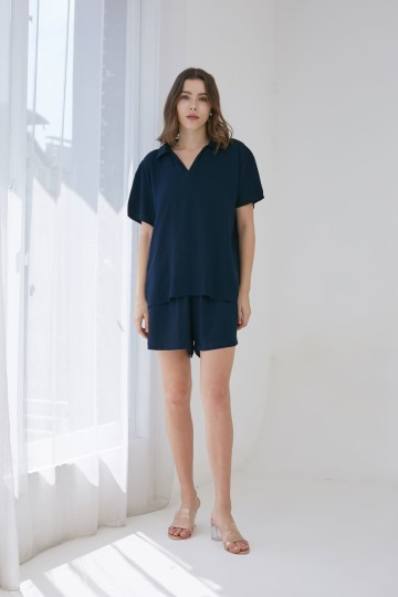 SOUNDLY SET SHORT NAVY