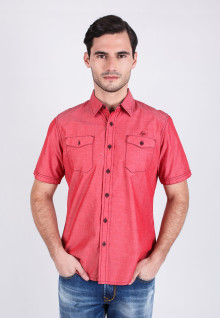 Slim Fit - Fashion Shirt - Soft Red