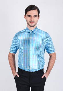 Regular Fit - Formal Shirt - Blue Gingham