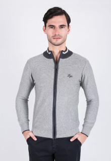 Slim Fit - Sweater - Gray Sport Sweater