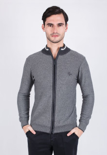 Slim Fit - Sweater - Dark Gray Sport Sweater