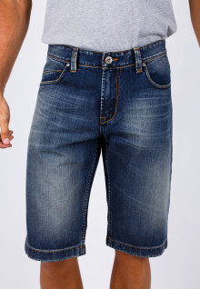 Short Slim - Bermuda - Dark Blue - Aksen Washed